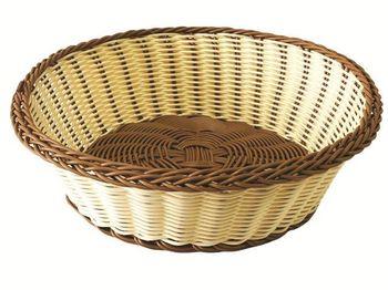 Корзинка для хлеба плетеная круглая D25cm, H8cm