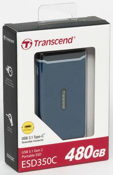 "480GB (USB3.1/Type-C) Transcend Portable SSD ""ESD350C"", N.Blue"