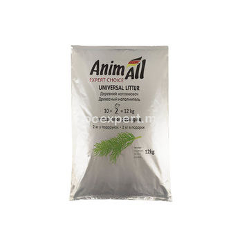 AnimAll древесный наполнитель 12 kg