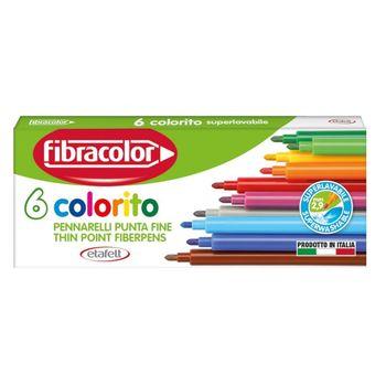 Фломастеры Fibracolor 6 цветов моющиеся
