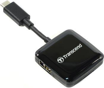 "Card Reader OTG Type-C Transcend ""TS-RDC2K""  Black USB2.0, SDHC (UHS-I), SDXC (UHS-I), microSDHC (UHS-I), microSDXC (UHS-I), USB"
