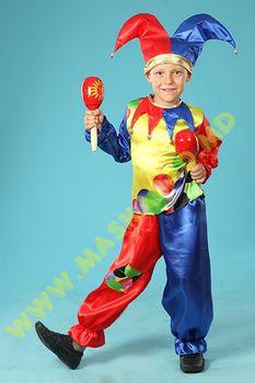 Карнавальный костюм: Петрушка-скоморох