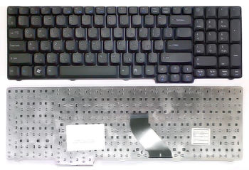 Keyboard eMachines E528 E728 Extensa 5235 5635 7220 7620 Aspire 6930 6530 9300 5735 5535 5235 5335 7000 7100 7110 7220 7520 7720 8530 8730 8735 8920 8930 9400 9410 9420 9920 Travelmate 7510 ENG/RU Black