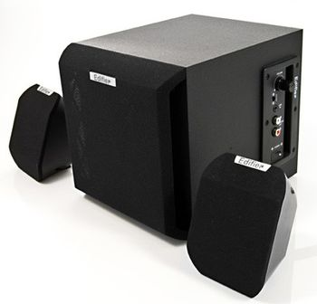 "Edifier X100 Black, 2.1/ 7W+ 2x4W RMS,  (sub.4"" + satl.2.75"")"
