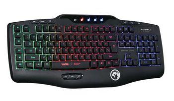 "MARVO ""KG750"", Gaming Lighting Keyboard, 119 keys, 9 programmable keys, 6 multimedia keys, Rainbow colors light, USB, Black"