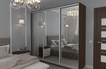 Шкаф-купе 2400 3 зеркала