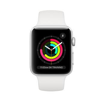 Apple Watch 3 38mm (MTEY2), Silver / White