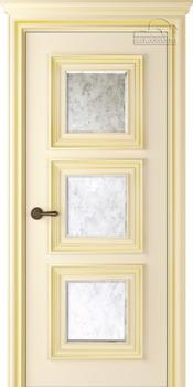 купить Дверь ПАЛАЦЦО 3 слоновая кость патина золото остекленная в Кишинёве