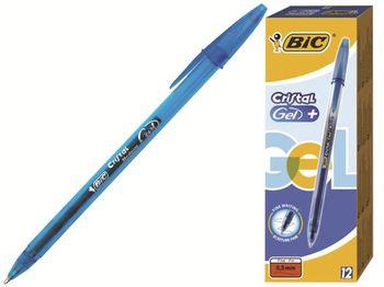 Ручка гелевая роллер-гель BIC Cristal (1/12), синяя