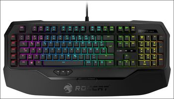 ROCCAT Ryos MK FX / Mechanical Gaming Keyboard with Per-Key RGB Illumination, Mechanical keys (Cherry® MX Brown key switch), Integrated media HUB (Audio in/out), 2x ARM CPU+memory, 500 programmable macros, EASY-SHIFT[+]™, USB