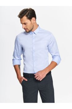 Рубашка TOP SECRET Голубой SKL2457BL
