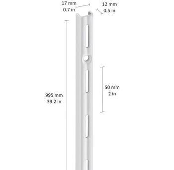 cumpără Profil perete perforație simplă 995 mm, alb în Chișinău