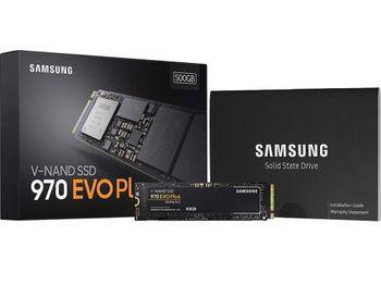 .M.2 NVMe SSD 500 ГБ Samsung 970 EVO Plus [PCIe 3.0 x4, R / W: 3500/3200 МБ / с, 480/550 K IOPS, Phx, TLC]