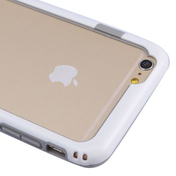 Бампер Пластик + Силикон для iPhone 6 белый