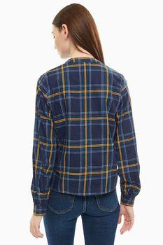 Блуза Tom Tailor Темно синий в клетку 1014125