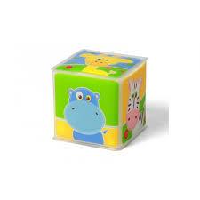 """Мягкий кубик """"Африка"""" - 1 штука. 7,5х7,5 см"""