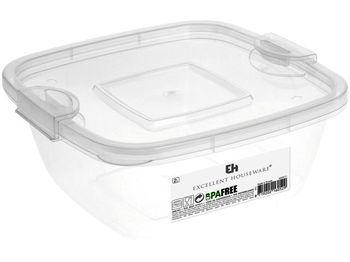 Емкость для хранения EH 2l, 20X20X8cm, пластик, прозрачн