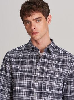 Рубашка RESERVED Темно синий в клетку wc034-99x