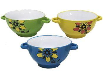 """купить Чашка для супа с двумя ручками """"Цветок"""" 14.5X8cm в Кишинёве"""