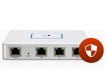 Ubiquiti UniFi Security Gateway USG, Dual-Core 500 MHz MIPS64, 512MB DDR2 RAM, 2GB Flash Storage, 3 Gbps, 1000000 pps, 3 x 10/100/1000 Mbps Ethernet ports, RJ45 Serial Port, USG (router/роутер)