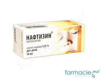 купить Нафтизин кап.д/носа 0.05% 10мл (Farmak) в Кишинёве