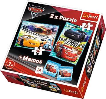 """Puzzle """"2in1 + memos"""" - """"Cars 3"""", 40320"""