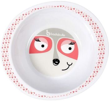 купить Badabulle Миска пластиковая глубокая Pink Racoon в Кишинёве