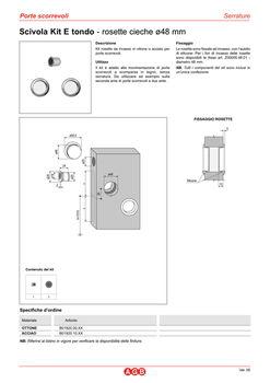 Комплект ручек для раздвижных дверей B019201032 хром сатин