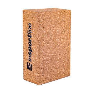 купить Блок для йоги опорный Insportline 23*15*7.5 cm (800 gr.) Cork 18236 (698) в Кишинёве