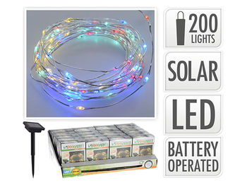 """Огни на солнечной батарее """"змейка"""" 200LED 10m, разноцветные"""