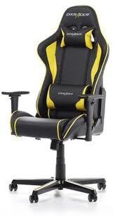 Игровое кресло DXRacer Formula GC-F08-NY, черный / желтый,
