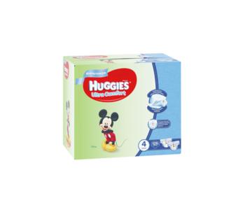 купить Подгузники для мальчиков Huggies Ultra Comfort  4  (8-14 кг) Disney BOX, 126 штук в Кишинёве