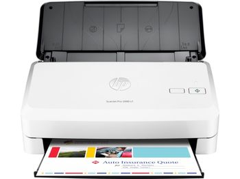 HP ScanJet Pro 2000 S1 Sheetfeed Scanner, Up to 24 ppm/48 ipm (300 dpi), up to 2000 pages daily, 50 sheets ADF, Hi-Speed USB 2.0, Auto-color detect, auto-crop, auto-exposure, auto orient, OCR, straighten the page, scan to cloud, scan to email