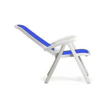 Кресло складное Nardi DELTA BIANCO blu 40310.00.112 (Кресло складное для сада и террасы)