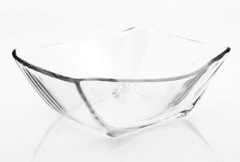 Салатница стеклянная Nettuno 14.7Х15.2cm, прозрачная