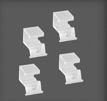 cumpără Set 4 dopuri din plastic pentru coș din plasă metalică15x22x20 mm, transparent în Chișinău