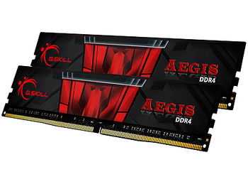 16GB DDR4 Dual-Channel Kit G.SKILL Aegis F4-3000C16D-16GISB 16GB (2x8GB) DDR4 PC4-24000 3000MHz CL16, Retail (memorie/память)