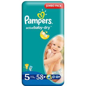 купить Pampers Подгузники Jumbo 5 11-18 kг, 58 шт в Кишинёве