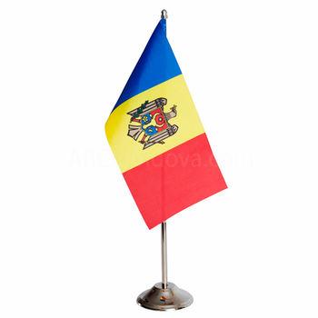 купить Флажок настольный 22x11 см на металлическом флагштоке - Молдова или друге страны в Кишинёве