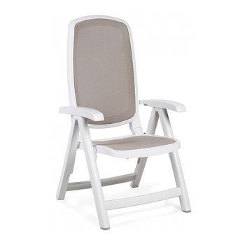 Кресло складное Nardi DELTA BIANCO tortora 40310.00.124 (Кресло складное для сада и террасы)