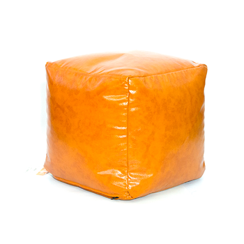 Пуфик куб Cub, светло-коричневый коньяк