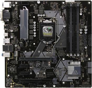 ASUS PRIME H370M-PLUS, Socket 1151, Intel® H370 (8th Gen CPU), Dual 4xDDR4-2666, 2xPCIe X16, CPU Intel graphics, VGA, HDMI, DVI, 6xSATA3, RAID, 2xM.2 slot, 2xPCIe X1, ALC887 HDA, GbE LAN, 2xUSB3.1 Gen 2, 5xUSB3.1 (1xType-C & 4xType-A), mATX