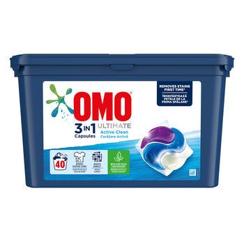 купить Omo Ultimate Trio Capsule Active Clean, 40 шт. в Кишинёве