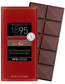 Ciocolata neagră Weinrichs 1895 Finest DarkChocolate 70% 100g.