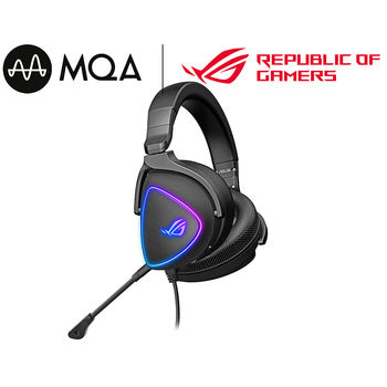 Casti gaming cu fir ASUS Gaming Headset ROG Delta S, USB-C, AI noise-canceling mic, MQA rendering technology, Hi-Res ESS 9281 QUAD DAC, Headphones 20 ~ 40000 Hz, Mic 100 ~ 10000 Hz, Virtual 7.1, RGB lighting