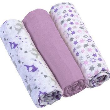 купить Пелёнки муслиновые Babyono фиолетовые 3 шт в Кишинёве