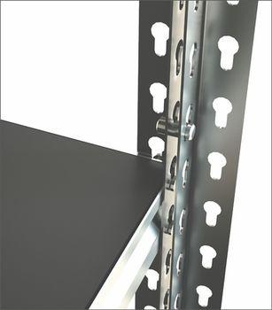 купить Стеллаж металлический Moduline 1195x700x1830 мм, 5 полок/0164PE антрацит в Кишинёве