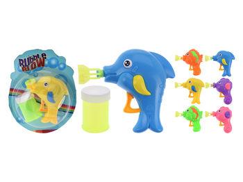 """Мыльные пузыри 50ml """"Дельфин""""11X9X4cm, 6цветов"""