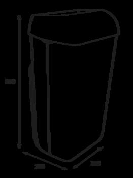 Урна с крышкой-фиксатором для мешка 25 л