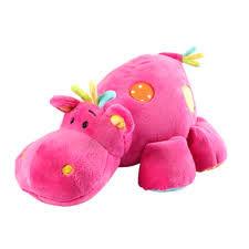 Игрушка Бегемотик розовый